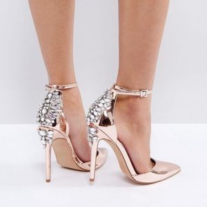 Rose gold Asos pumps size 10 new in box